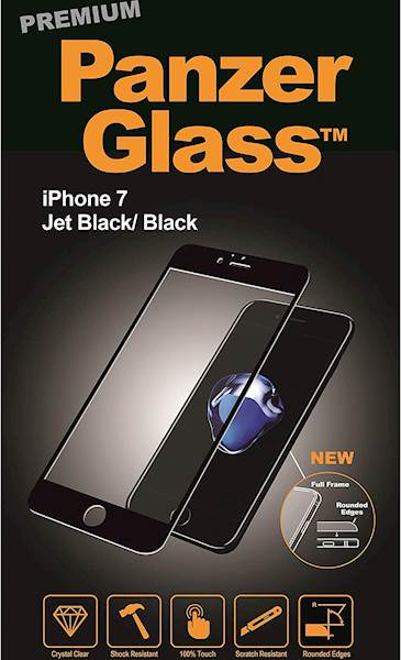 PANZERGLASS PREMIUM  APPLE IPHONE 7 JET BLACK