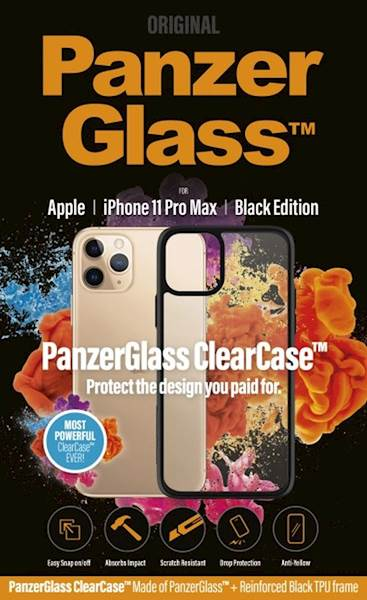 PANZERGLASS CLEAR CASE IPHONE 11 PRO MAX BLACK