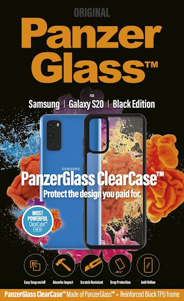 PANZERGLASS CLEAR CASE GALAXY S20 BLACK