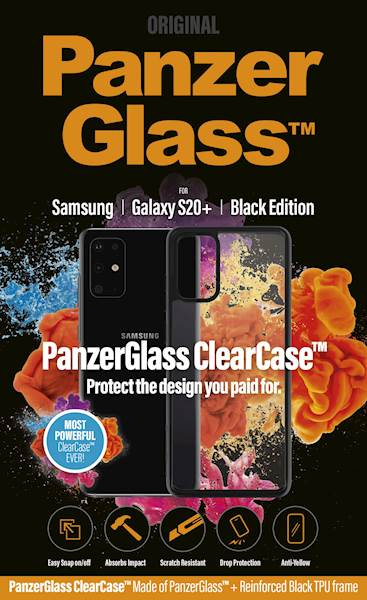 PANZERGLASS CLEAR CASE GALAXY S20+ BLACK