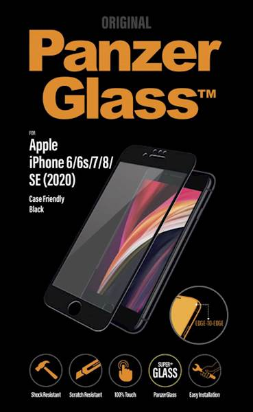PANZERGLASS IPHONE 6/6S/7/8/SE(2020) CF BLACK