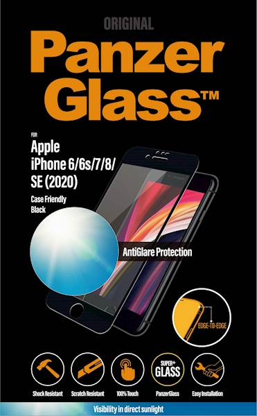 PANZERGLASS IPHONE 6/6S/7/8/SE(2020) CF AG BLACK