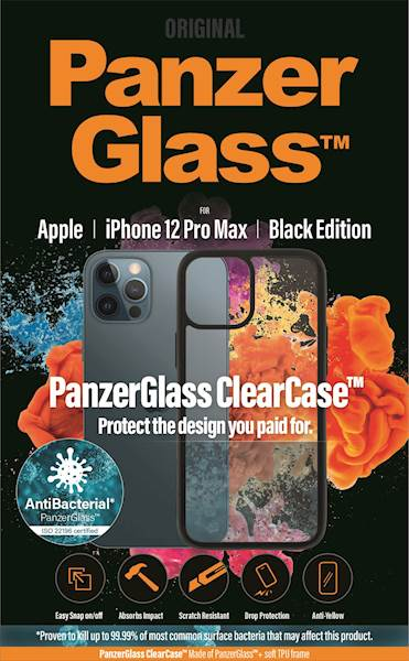 PANZERGLASS CLEAR CASE IPHONE 12 PRO MAX AB BLACK