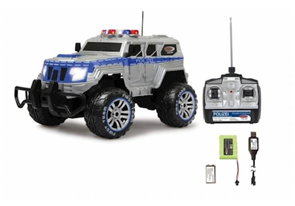 Jamara Police amored car Monstertruck 1:12 27 MHz LED