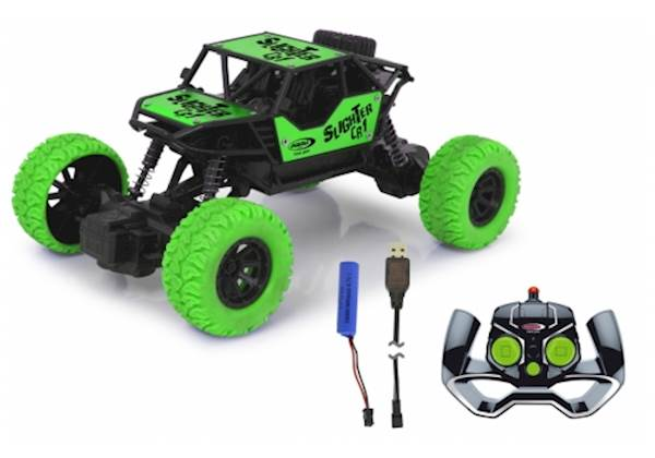 Jamara Slighter CR1 RC Crawler Diecast 2,4 GHz Zelen